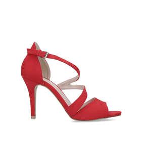 b101b7b4c5b Lightning. Red Suedette High Heel Sandals