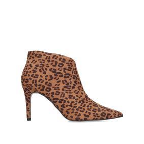 b9198c4d3d1c6 Jiles. Leopard Print Mid Heel Ankle Boots