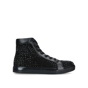 911a4c476478b3 Joel. Black Studded High Top Trainers
