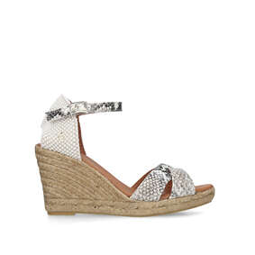 13e6d284b6d Leona Snake Print Espadrille Wedge Sandals from Kurt Geiger London