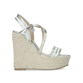 93291d644eb5 Demi. White High Heel Wedge Sandals