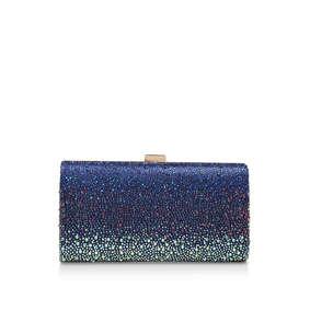 c887c91526786 Lovebird Clutch. Blue Embellished Clutch Bag