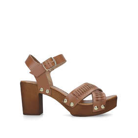 3b4b3321dfe Bold Tan Block Heel Chunky Sandals from Carvela