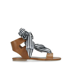 Rose Tan Sandals With Striped Ties from KG Kurt Geiger 9c8e5a91d2fa