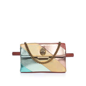 Sm Kensington Belt Bag Metallic Rainbow Leather Belt Bag from Kurt Geiger  London 88d1bc347d406