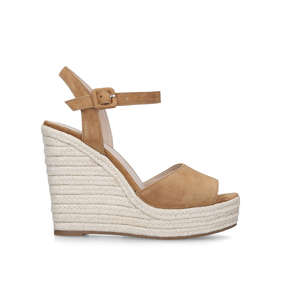 499e7b60da4d Ybelani Brown Leather Wedge Heeled Sandals from Aldo