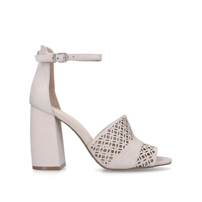 57614d91018d Gidge Nude Flared Heel Strappy Sandals from Vince Camuto