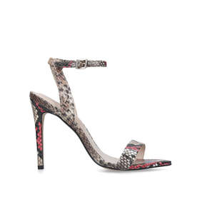 dfeef03a908 Bravyan Snake Print Barely There Heeled Sandals from Aldo