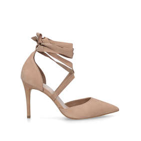 15c6b24d17c Trerraniel Nude Leather Cross Strap Heeled Court Shoes from Aldo