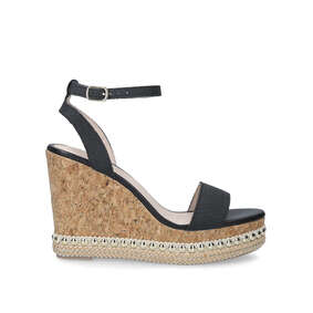 1a3f4159d4 Pip Black Studded Cork Wedge Sandals from Miss KG. New In