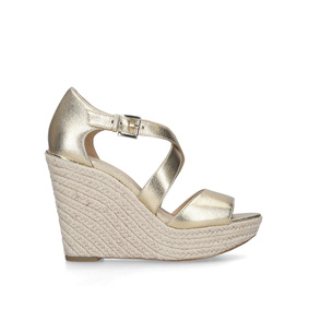 2c6bf8c06f05 Abbott Wedge Gold Espadrille Wedge Sandals from Michael Michael Kors