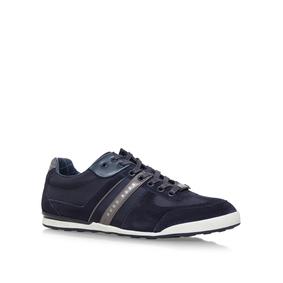 Mens Akeen Low-Top Sneakers, Blue HUGO BOSS