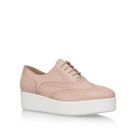 Leslie Nude Flatform Brogue Shoes from Carvela