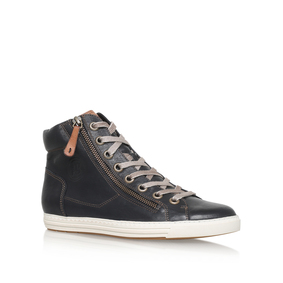 Alex Black Flat High Top Trainers from Paul Green. Sale