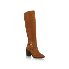 Harriet. Tan Mid Heel Knee Boots