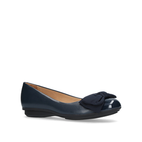 Clara Navy Flat Ballerina Shoes from Carvela Comfort