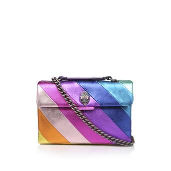 4542a52552 Leather Kensington Bag. Rainbow Stripe Shoulder Bag