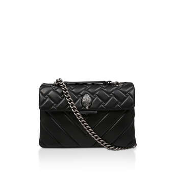 97d8b89438 Leather Kensington X Bag Black Leather Shoulder Bag from Kurt Geiger London