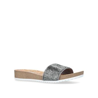 2ed483b6be0 Qtee Metallic Flat Sandals from Anne Klein