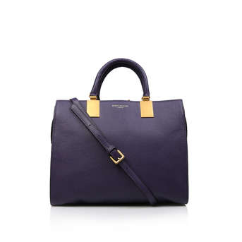 41db96568e Leather Emma Tote. Purple Leather Tote Bag