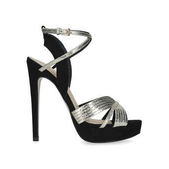 9f3d4ab4d8181f Sammy. Metallic Stiletto Heel Platform Sandals