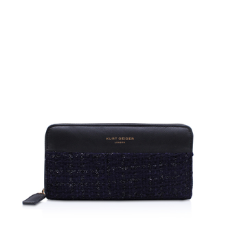 Tweed Zip Around Wallet from Kurt Geiger London