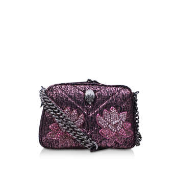 Tweed Plum Crossbody from Kurt Geiger London