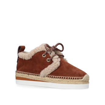 Glyn Laceup Shearling from See By Chloe