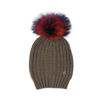 Fur Pom Pom Hat from Kurt Geiger London