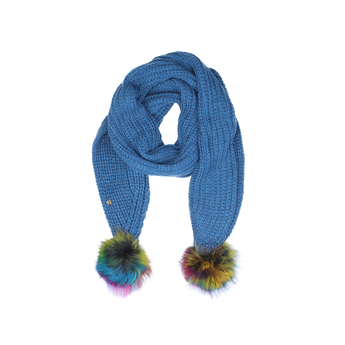 Fur Pom Pom Scarf from Kurt Geiger London