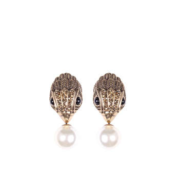 Eagle And Pearl Earrings from Kurt Geiger London