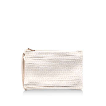 Spruce Raffia Pouch from Carvela