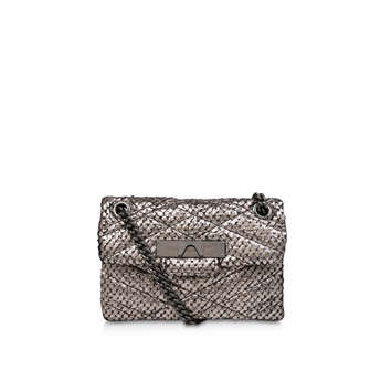 Tweed Mini Mayfair X Bag from Kurt Geiger London