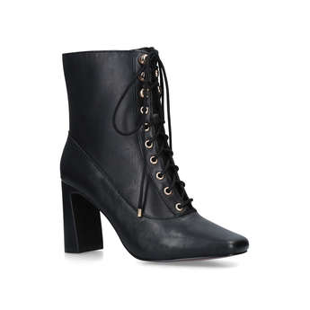 Lace Up Square Toe Boots from River Island
