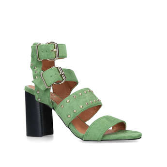 Studded Block Heel Sandal from River Island