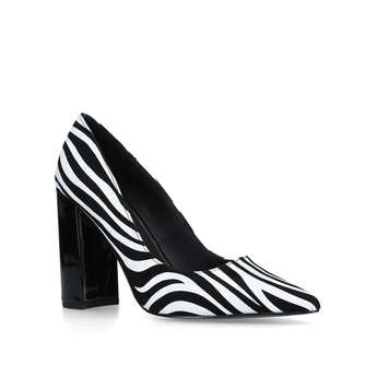 Zebra Block Heel Court from River Island