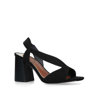 Wide Fit Flare Heel Sndl from River Island