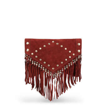 Suede Stud Tassle Clutch from River Island