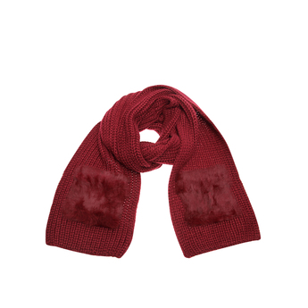 Fur Knitted 2 Pockt Scarf from Kurt Geiger London