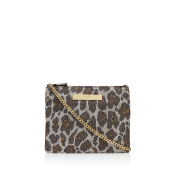 Grace Leopard Lurex Pouch from KG Kurt Geiger