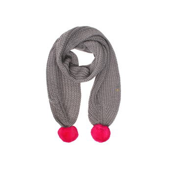 Fur Pom Pom Knit Scarf from Kurt Geiger London