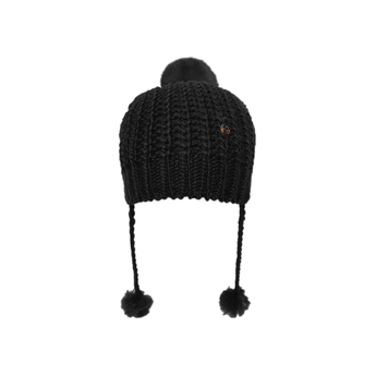 Fur Pom Pom Knit Hat from Kurt Geiger London