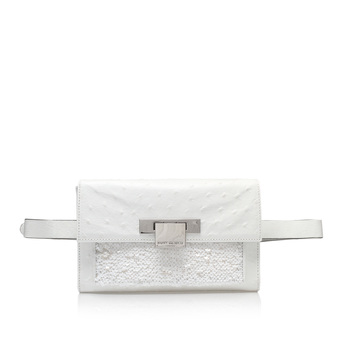 Ostrich Annie Belted Bag from Kurt Geiger London