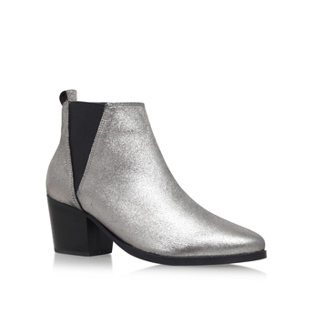 42974d582e9 BEST DEAL SLICKER Carvela Silver Leather Low Heel Ankle Boot ...