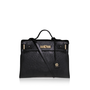 Ostrich Britt Tote from Kurt Geiger London