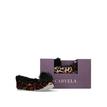 Olivia Pompom Box Slipper from Carvela