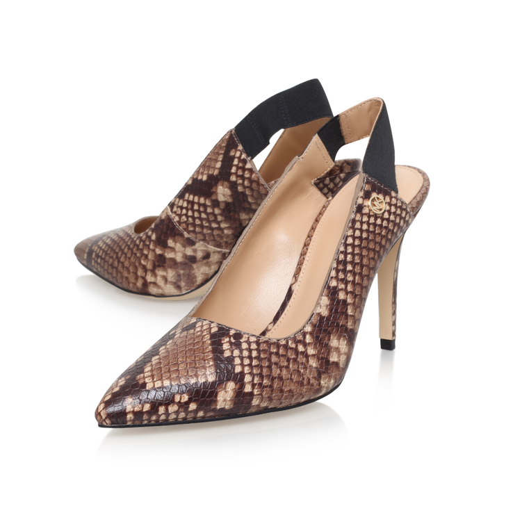 4759d277127 Lillian Sling Taupe Mid Heel Court Shoes By Michael Michael Kors ...