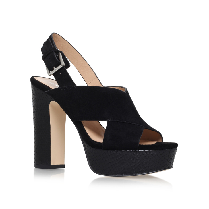 Black Mid Heeled Sling Back Shoes Amazon