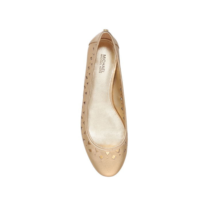 sunny ballet gold flat ballerina shoes by michael michael kors kurt geiger. Black Bedroom Furniture Sets. Home Design Ideas