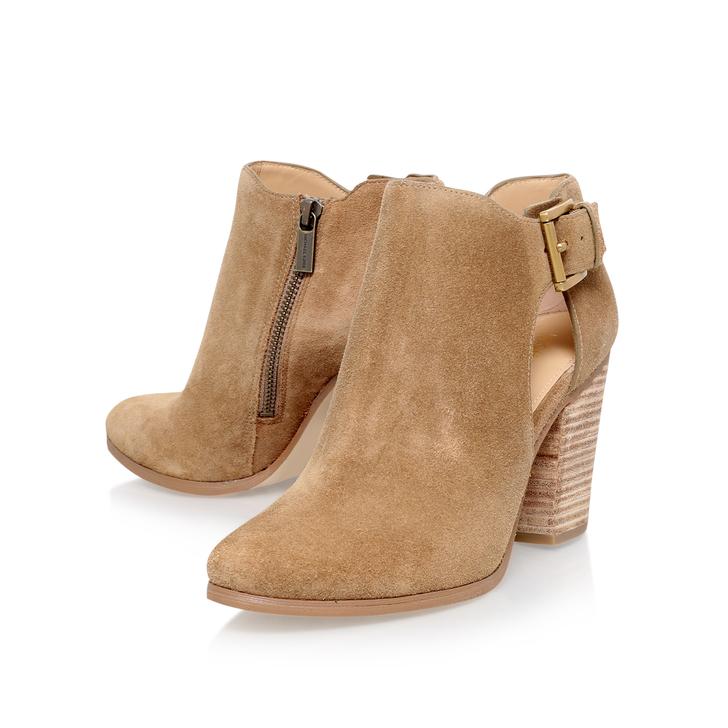 Adams Bootie Brown Mid Heel Ankle Boots